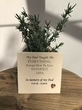 Personalised Flower / Plant Pot In Memory Loved One DAD Memorial MUM OR ANY NAME - 333291608348